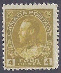 Canada Scott #110 Mint Hinged F-VF