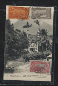 GUADELOUPE (PP2709B) 1927 REG PPC TO USA