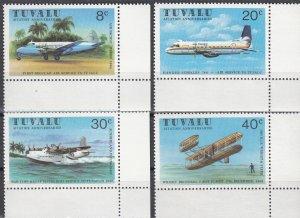 Tuvalu, Sc 142-145, MNH, 1980, Airplanes