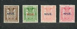 Niue Sc#86-89 M/NH/VF, 89 Natural Inclusion Wmk 61, Cv. $750