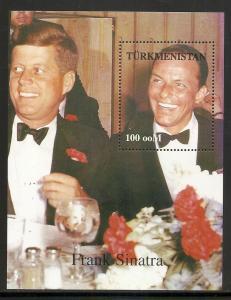 Turkmenistan Unlisted Kennedy Sinatra s.s. MNH (005)