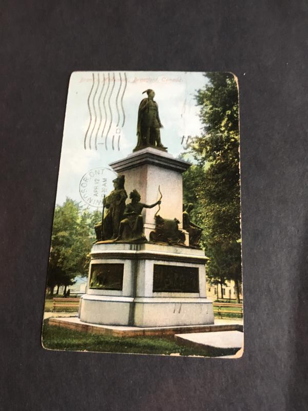 Canada 1903 Post Card Postage Paid with 1c Edward Photo Shows Brant's Monument F