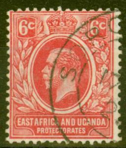 KUT 1921 6c Carmine SG67 Fine Used