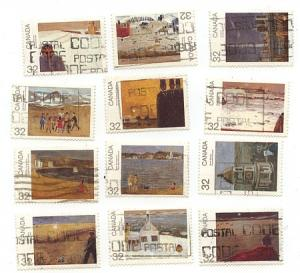 Canada USC #1016-1027 Complete Used (10 Sets) F-VF Cat. $60.
