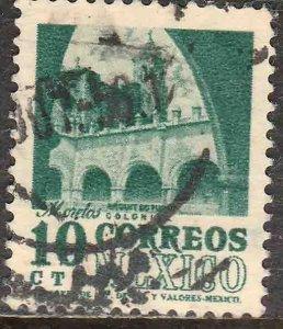 MEXICO 876a, 10¢ 1950 Definitive 2nd Ptg wmk 300 REDRAWN USED F-VF. (124)