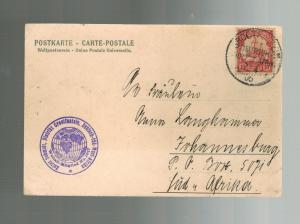 1906 Grootfontein German Southwest Africa Postcard Cover to South Africa Karibib