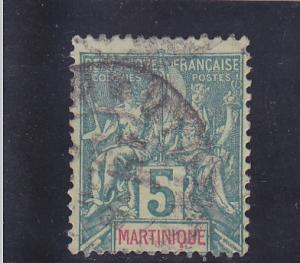 Martinique  Scott#  36  Used