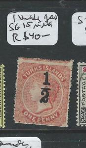 TURKS ISLANDS  (P2206B) QV 1D SG 15  MNG