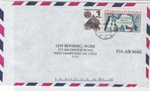 Czechoslovakia Penguins Stamps Airmail Cover to U.S.A. ref R 17907