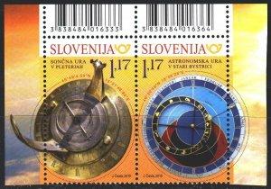 Slovenia. 2019. 1365-66. Astronomy, sundial. MNH.
