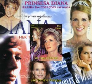 Sao Tome & Principe 2005 Princess Diana & Grace of Monaco s/s Imperforated Mint