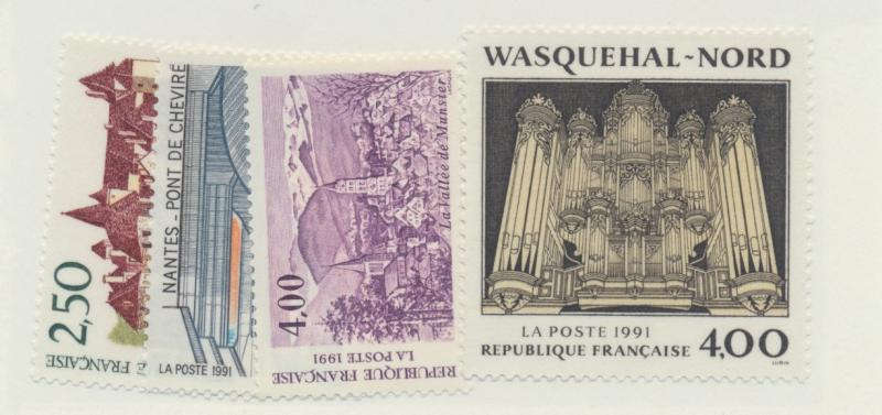 France Scott #2250 To 2253, Tourism Series Issue From 1991 - Free U.S. Shippi...