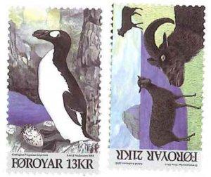 Faroe Islands - Rams & Penguins - 2 Stamp Set - 6F-003
