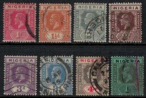 Nigeria #19-21,3,5-7,9  CV $6.70