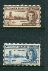 Pitcairn Islands #9-10 Mint