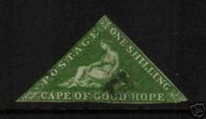 C.O.G.H. 1863  1/- BRIGHT EMERALD GREEN  FU  SG 21