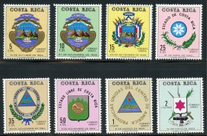 Costa Rica Scott C515-C522 MNHOG - 1971 Coats of Arms Set - SCV $7.20
