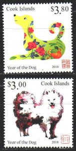 Cook Islands. 2017. 2151-52. Chinese New Year, Year of the Dog. MNH.