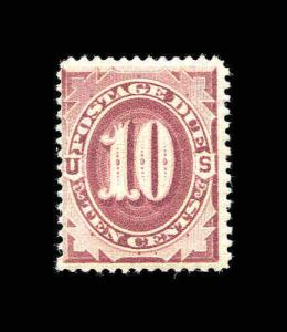 US Scott #J19 10¢ Deep Red Brown Postage Due MH