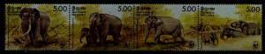 Sri Lanka 803 MNH WWF-86/Elephants SCV72.50