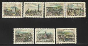 Austria Semi Postal 1964 Scott# B306//B313 ( B307 missing)