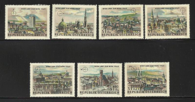 Austria Semi Postal 1964 Scott# B306//B313 ( B307 missing)