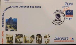 O) 2001 PERU, PHILA NIPPON, WORLD PHILATELIC EXHIBITION, YOUNG CHRISTIAN ASSO...