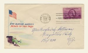 US -1945 Scott 927 FDC 3c Florida Centennial (Jacques Minkus Cachet)