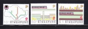 Singapore 522-524 Set MNH Trains