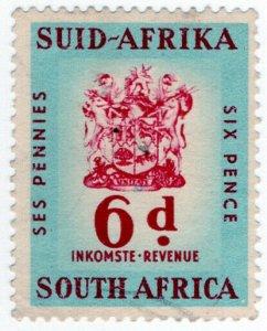 (I.B) South Africa Revenue : Duty Stamp 6d
