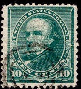 US Stamp #226 10c Green Webster USED SCV $5