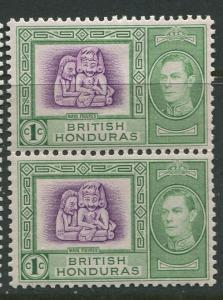 British Honduras.- Scott 115 - KGVI Definitives -1938 - MVLH -Pair of 1c Stamp