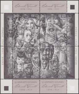 Estonia 1998 #337 MNH. Art, Wiiralt