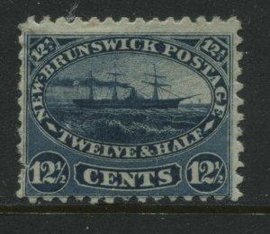 New Brunswick QV 1860 12 1/2 cents blue mint o.g.