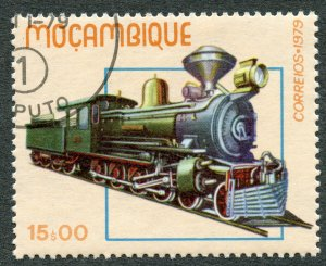 Railroads: Class D Steam Locomotive, 1979 Mozambique, Scott #661. Free WW S/H