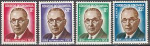 Colombia #727-8, C394-5 MNH (K3L)