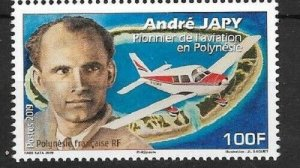 TAHITI (FRENCH POLYNESIA) - 2019 / ANDRE JAPY, PIONEER OF AVIATION (Plane), MNH