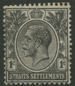 Straits Settlements - Scott 179 - KGV Definitive - 1921 - MNG - 1c Stamp
