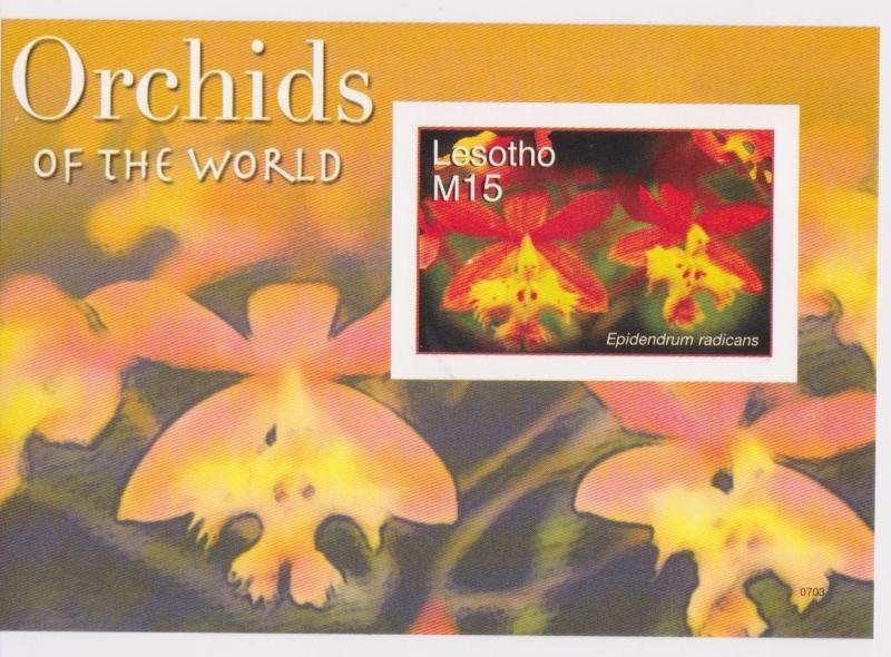 Lesotho - Orchids, Flowers, 2007 - Sc 1420 S/S MNH - IMPERFORATE