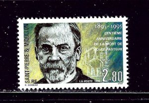 St Pierre and Miquelon 610 MNH 1995 Louis Pasteur