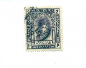 Zanzibar - Sc# 109. 1908 2 Rupee Sultan Hamoud. Used. $21.00.