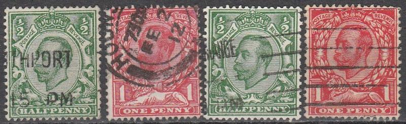 Great Britain #151-4  F-VF Used   CV $15.50  (A8741)