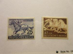 GERMANY  Scott  B204 & B205  HORSES  MINT NEVER HINGED  LotD  Cat $6.25