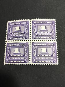 Canada 2015 Scott $27.50 Each 1933 1c Postage Due Fresh & F-NH USC C$15. Each