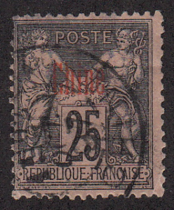 France - Offices in China - 1894 - Sc. 6 - used