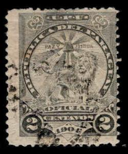 Paraguay Scott o64 Official mail Sentinel Lion stamp Used