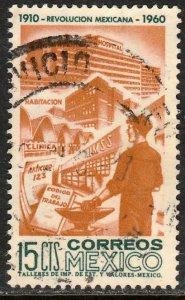 MEXICO 914, 15c 50th Anniv Mexican Revolution. USED. VF (513)