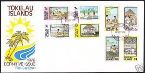 TOKELAU  FDC 1976 DEFINITIVES
