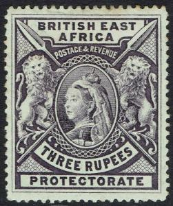 BRITISH EAST AFRICA 1897 QV LIONS 3R