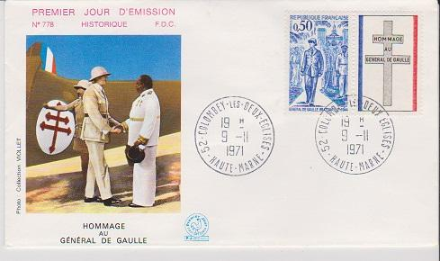 FRANCE STAMPS FDC -YEARS 1971- CH.DEGAULE # LOT#A-10